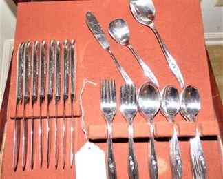 Vintage Silver Plate Flatware Set