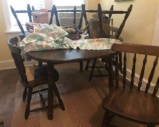 Dining room table with 6 chairs.  Great condition.  $75