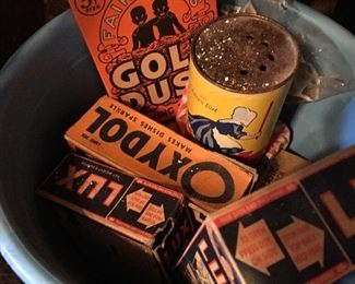 Old cleaning products