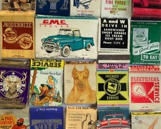 Matchbooks, many local Traverse City and Northern Michigan