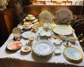a wide variety of hand painted china