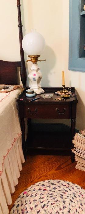Mahogany bed side table