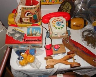 Assorted toys - Fisher Price and Play Skool.