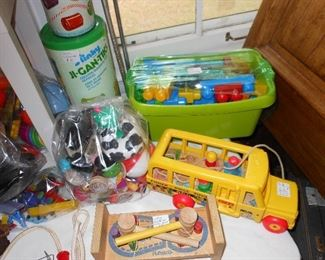 Vintage assorted Play Skool and Fisher Price toys.