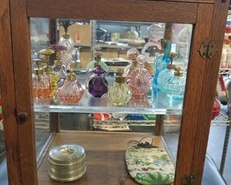 18 assorted vintage glass perfume bottles IRice etc. Starting at $10 to $75
