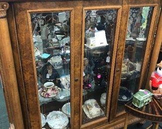 Antique mid century display case