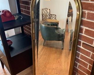 Contemporary brass mirror