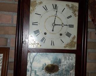 Ephraim Donnes Antique Clock
