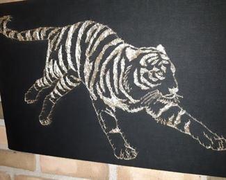 Metal String Art of a Lion