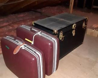 Suitcases and Antique Trunks