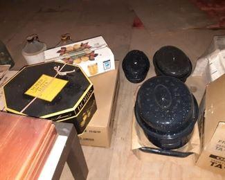 Enamel Cookware, Antique Hats