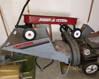 Radio Flyer Wagon, Craftsman Woodchipper