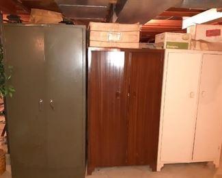 Metal and Wood Wardrobe Cabinets