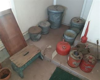 Metal Trash Cans, Metal Gas Canisters