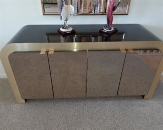 80s sofa table cabinet or bar