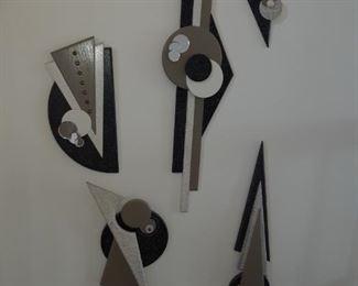 Modern wall sculpture