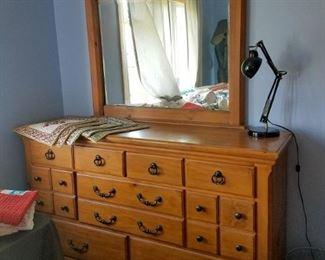 Large wood dresser