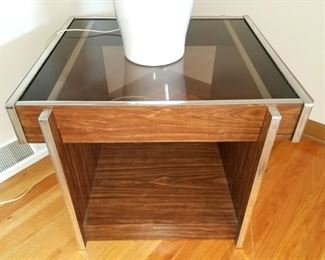 Smoke glass end table