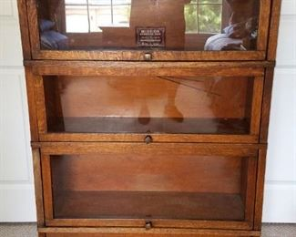 Antique Globe Wernicke  barrister bookcase...in great condition except for one door