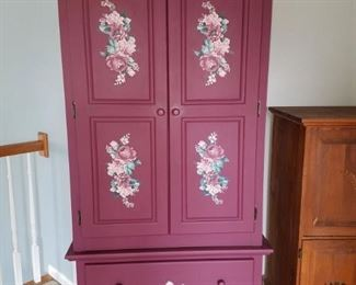 Gorgeous painted red cabinet...excellent condition