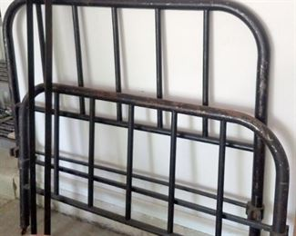 Iron headboard set with frame