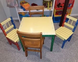 Child's play table set