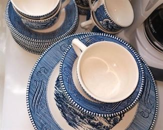 Currier and Ives dinnerware