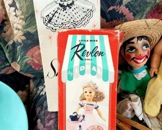 Vintage Shirley Temple doll in box. Vintage Little Miss Revlon doll in box. Photos of dolls to come