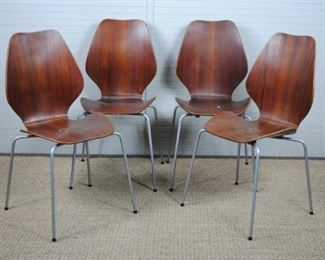 Rosewood Mid Century Modern Chairs