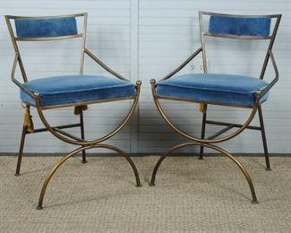 Pair of Wrought Iron Santerini Style Chairs