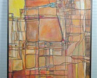 Cubist Mid Century Painting