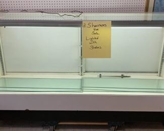 6ft. Lighted Showcase with Glass Shelves - 2 Available - $150 each