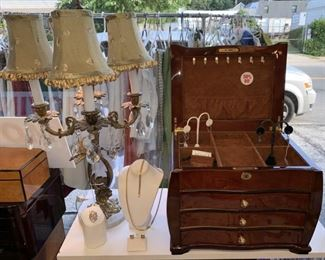 Lamps and Jewelry Boxes - SALE 50% OFF