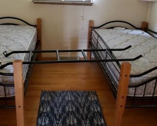 Twin bunk beds, use separately or stack them.