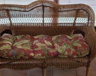 Indoor/outdoor wicker set