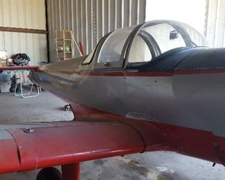 1961 Forney F-1A  Trainer SN#5758 Airplane. Assorted Books in Boxes, Shelving, Lawn Chairs