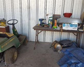John Deere Tow Tractor, Tarp, Master Floor Heater