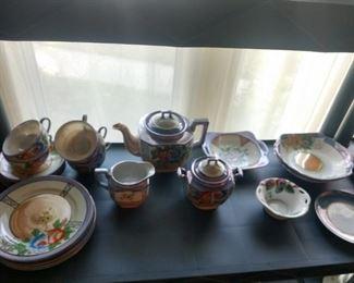 Lustre ware tea set