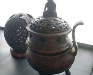 Oriental incense burners
