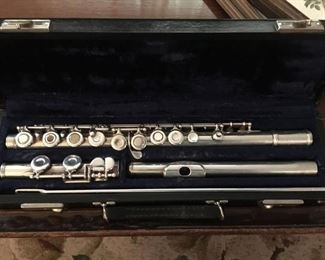 "Beautiful Flute --""Sterling Body"" plus extra pieces in case."