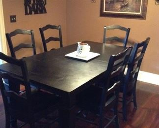 Beautiful french country dining table with 6 chairs