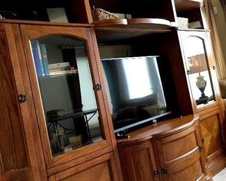"""And THIS Beauty!...Beautiful All Wood Wall Unit...and YES...It'll Hold A Large Screen TV...The TV pictured Is A 42"""" Insignia!..."""