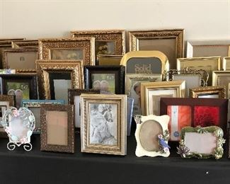 LOTS of picture frames, all sizes