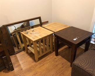 Two sets of end tables