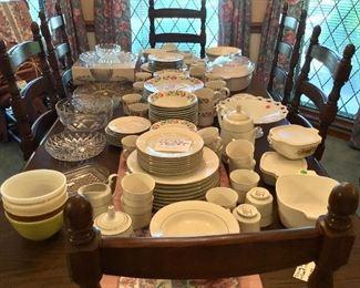 Pyrex, Corning Ware, Farberware, Japan Fine China