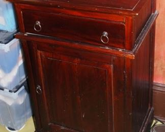 Antique wood night stand