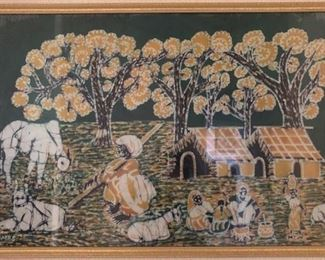 Indian Countryside on linen