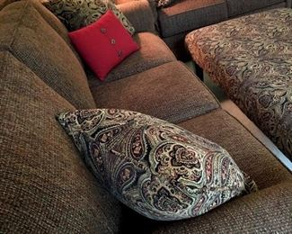 This Sylvania Sale Is Jammed Full Of Quality Furniture, Beautiful Decorative Items, A Full Kitchen, A Packed Basement, Outdoor Treasures!...Let's Start With The Furniture...In The Living Room Is A Beautiful 3 Cushion Sofa and Matching Loveseat...Like NEW!...
