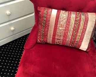 UBER CUTE Red Statement Chair!....