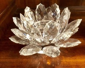 Crystal candle holder large